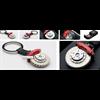 BRAKE DISC KEYCHAIN (6-POTS CALIPER/RED)  - AUTOart   Diecast