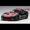 DODGE VIPER GTS-R 1/28 EDITION ACR (BLACK W/ RED STRIPES) - AUTOart 1:18 Diecast