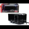 Traw Four Wheel Enclosed Trailer black AUTO WORLD 1:18 Diecast