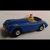 Blue convertible RHD Aurora slot car Ho scale