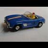 Blue convertible LHD Aurora slot car Ho scale