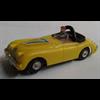 Yellow #7 convertible LHD Aurora slot car Ho scale
