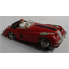 Red convertible LHD Aurora slot car Ho scale