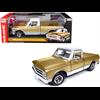 Chevrolet C-10 Pick Up truck 1968 gold, white AutoWorld 1:18 Diecast model