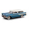 Pontiac Safari  2dr Staion Wagon blue and ivory Brooklin 1:43 Diecast