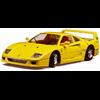 Ferrari F40 1987 black BBURAGO 1:24 Diecast