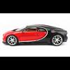 Bugatti Chiron 2- tone black, red BBURAGO Signature 1:18 Diecast model