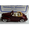 Chevrolet Convertible Top Down 1941 maroon Durham 1:43 diecast