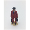 Figure: man in red suit w/ umbrella, briefcase Omen 1:43