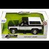 Chevrolet Blazer Custom 1980 black, white Jada 1:24 Diecast