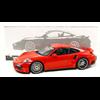 Porsche 911 991 Turbo S 2016 red Minichamps 1:18 Diecast model