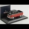 Volkswagen T1 double cabin 1961 red, black Norev 1:43 Diecast
