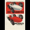 Monaco Grand Prix Reproduction Poster 1959  27 x 39.5 inches