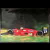 Ferrari F1/87 M. Alboretto #27 official Ferrari 1987 Poster 27 x 38.5 inches