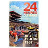 1967 24 Heures Du Mans  Original Event POSTER   -  14.7 x 22.75 inches