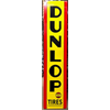 1930s-1940s Dunlop Tires sign 16 x 72 inches