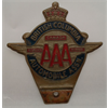 British Columbia Automobile Association car badge, plastic
