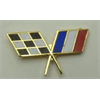Lapel Pin Checkered Flag, France