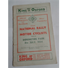 1934 National Rally of Motor Cyclists Program