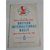 1954 British International Rally Program