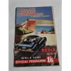 1954 REDeX National Motor Rally & concours d'elegance Program