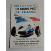 1964 Les Grands Prix de France Official Racing Program, Fangio signed