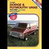 Dodge & Plymouth Vans 1971-197 Gas and Diesel Clymer Repair Manual