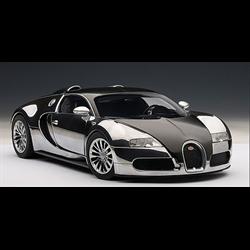 Bugatti EB Veyron 16.4 Pur Sang, Black/Aluminum Casting - AUTOart 1:18 Diecast