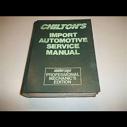 Chilton's Import Automotive Service Manual 1982-1989