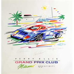 "Randy  Owen - Miami Grand Prix  20"" x 20""  1991  #134/145"