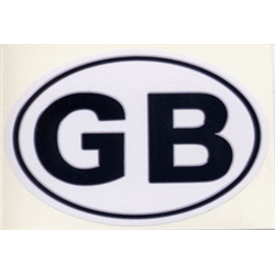 """Sticker """"GB"""" 11.5x8 cm, oval decal Great Britain UK England Jolly Old"""