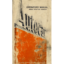 Autocar Owner's Manual