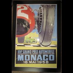 Monaco Grand Prix Reproduction Poster 1958 (WILL NOT SHIP)