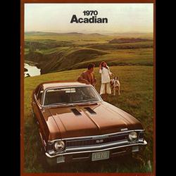 1970 GM Acadian Sales Catalog-Brochure