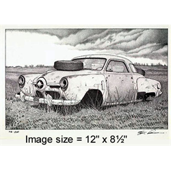 Print Studebaker Wreck - Nick Graham