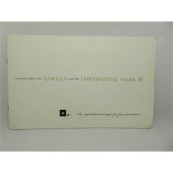 1959 LINCOLN Continental Mark IV Sales Catalog-Brochure
