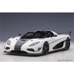 KOENIGSEGG AGERA RS - White with Black Accents  AUTOart 1:18 Diecast