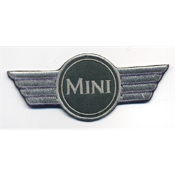 "Embroidered Patch ""Mini"" wing emblem, cloth badge logo iron-on"