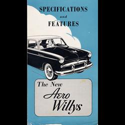 1952 WILLYS-OVERLAND Aero Sales Catalog-Brochure