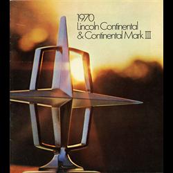 1970 LINCOLN Continental Sales Catalog-Brochure