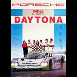 Porsche Factory Poster 1991 Daytona