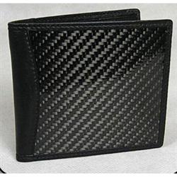 Wallet Carbon Fiber Bi-fold  - Black