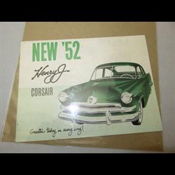 1952 Kaiser Corsair Henry J Sales Catalog-Brochure