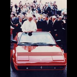 Ferrari Mondial and Pope  Photo