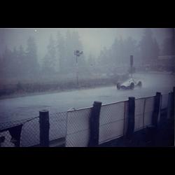 Mercedes GP prewar car in poswar tour in the rain  Photo
