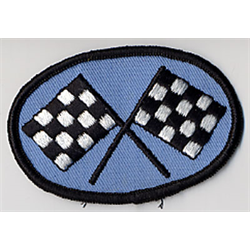 "Embroidered Patch ""Racing Flags"""