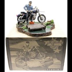 Harley Davidson with figurine fishing sculpture and base  ERTL model