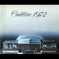 1972 CADILLAC Full-line Sales Catalog-Brochure