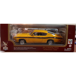 Plymouth Barracuda 1969 yellow Yat Ming Road Legends 1:18 Diecast