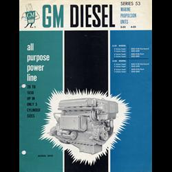 1960 GMC Series 53 Diesel Engine Sales Catalog-Brochure